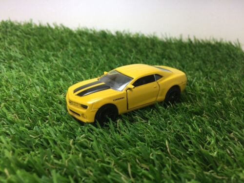 Majorette Chevrolet camaro 279A ech1/62 Car Model Yellow & Black Racing Diecast