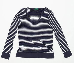 United-Colours-of-Benetton-Womens-One-Size-Striped-Cotton-Blue-Top-Regular