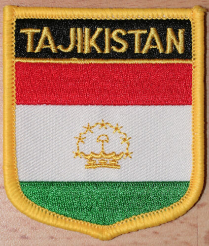 TAJIKISTAN Shield Country Flag Embroidered PATCH Badge P1