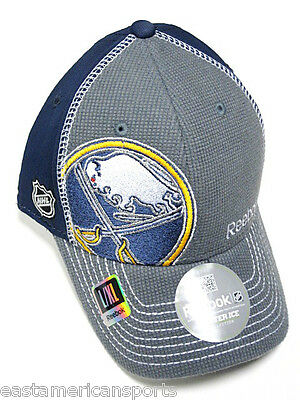 Buffalo Sabres NHL Reebok Center Ice Hat Cap Gray / Blue Flex Fit Fitted L/XL