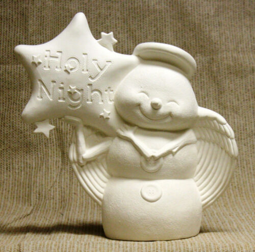 Ceramic Bisque Snow Angel Holy Night Clay Magic Mold 1995 U-Paint Ready To Paint