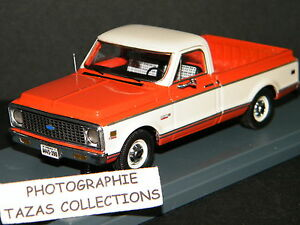 CHEVROLET-C-10-PICK-UP-ORANGE-CREME-NEO-1-43-Ref-45390-boite-rayee