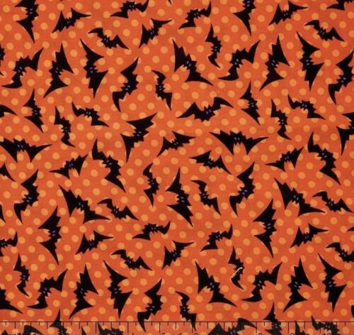 Creepy Hollow Fabric Halloween Candy Corn Out Of Print Premium Cotton