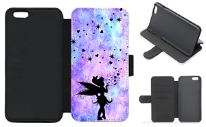 TINKERBELL-FAIRY-Flip-Phone-Case-Wallet-iPhone-Galaxy-4-5-6-7-8-Plus-X-Comp-H