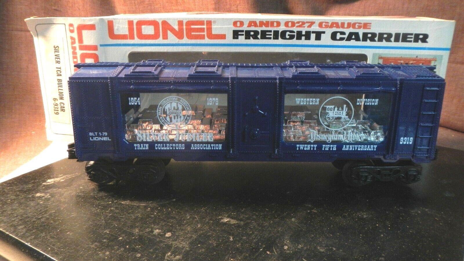 disfrutando de sus compras Trenes Lionel 6-9319 Plata TCA lingotes como nuevo coche coche coche en Caja Original Nuevo Viejo Stock  tienda de descuento
