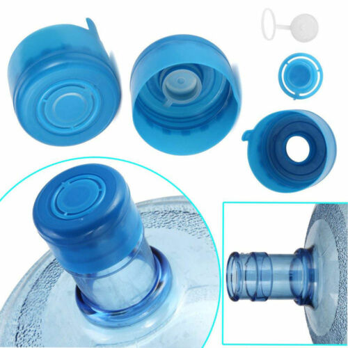 5Pc Reusable Bottle Snap On Non-Spill Replacement 55mm 3-5 Gallon Water Jug Caps