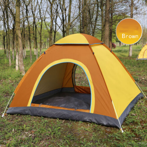 Outdoor Camping Folding Automatic Tents 3-4 People Two Doors Auto Beach Tents GF