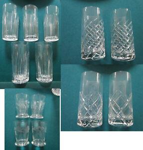LENOX HIGHBALL TARTAN - SWIRL CUT- GLASSES WATERFORD HIGHBALL BARCELONA PICK 1