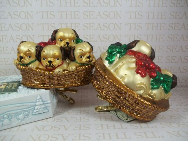 Old World Christmas Pile of Puggles Blown Glass Ornament ...