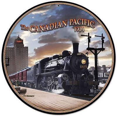 Canadian Pacific 1934 Train Metal Sign Man Cave Club SHOP TRAVEL DECOR LG085