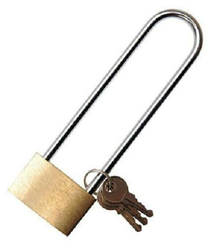 NEW Solid Brass Padlock 40 Mm Extra Large Shackle BGS Technic KG A Tradi PREMIUM