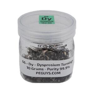 1 gram Dysprosium metal pieces 99.9/% in glass vial element 66 sample