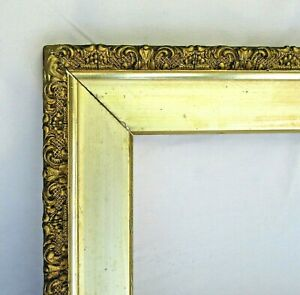 "ANTIQUE FITS 7.5""X 10.5""  GOLD GILT ORNATE WOOD PICTURE FRAME FINE ART VICTORIAN"
