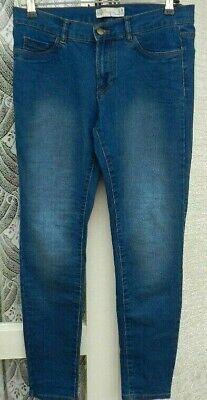"""(rif. 1206) Zara Trafaluc-size 10 W 30"""" - Donna Blu Slim/skinny Jeans-mostra Il Titolo Originale"""