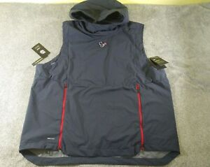 Details about $150 NWT NFL Houston Texans Nike Dri Fit Shield Sleeveless Hoodie Vest! Mens XXL