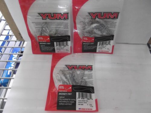 """Lot of 3 Packs of YUM 2/"""" Money Fry 9 Pack Crystal Shad*"""