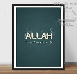 Image Is Loading ALLAH ISLAM MUSLIM Prophet Muhammad Quote Poster Print