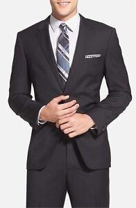 514620dfb HUGO BOSS 'James/Sharp' Trim Fit Black Super 120s Wool Jacket 3216 ...