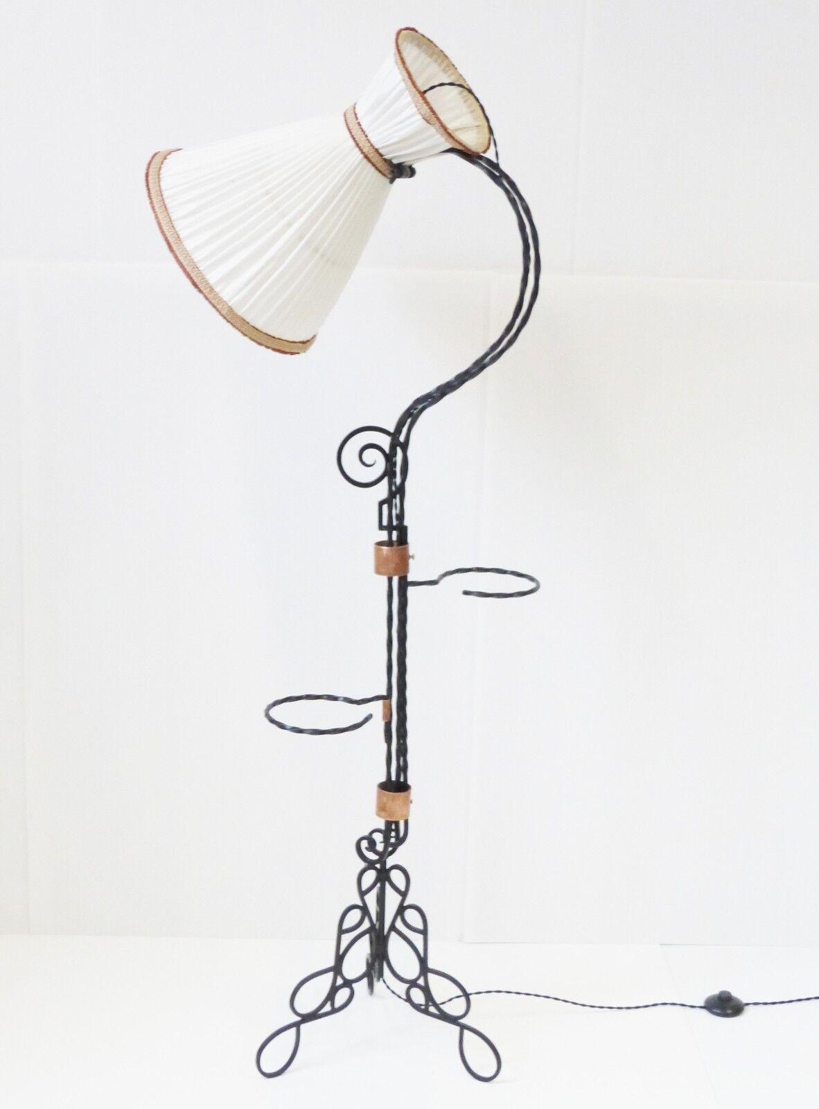 SUPERBE LAMPADAIRE DIABOLO PORTE-PLANTES AMOVIBLES 1950 VINTAGE FLOOR LAMP