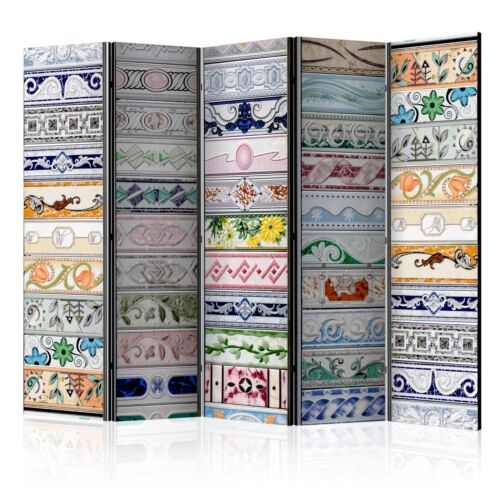 Deko Paravent Raumteiler Trennwand Spanische Wand 2 Formate Mosaik Ornamente