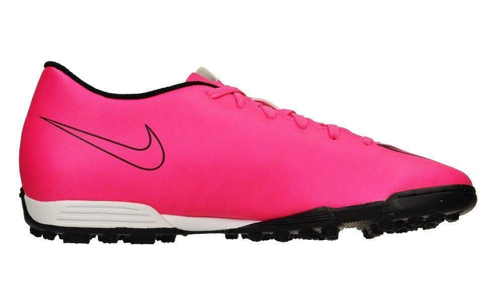 Mens NIKE MERCURIAL VORTEX II TF Pink Football Boots 651649 660