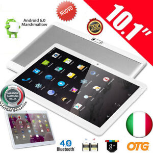 "16GB 10.1"" POLLICI QUAD CORE ANDROID 6.0 3G WiFi Tablet PC PAD 2X SIM SMARTPHONE"