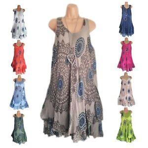 Women-Summer-Sleeveless-Tunic-Blouse-Tank-Top-Kaftan-Beach-Bikini-Cover-Up-5XL