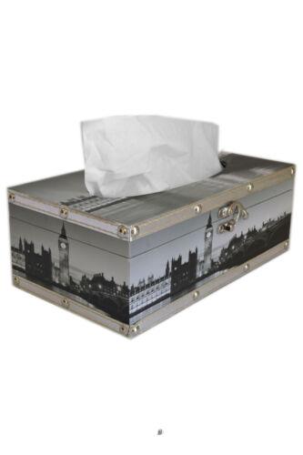 """10/"""" BIG BEN LONDON KLEENEX Distributeur tissu en cuir synthétique Case Cover Holder"""