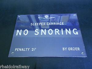 No-Snoring-Sign-Enamel-effect-railway-style-Harvey-Makin-humour