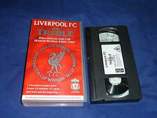 LIVERPOOL FC THE TREBLE LEAGUE AND CUP SEASON REVIEW 2000-2001 - UK VHS VIDEO
