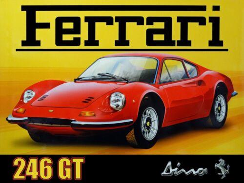 Ferrari 246GT Dino Metal Sign
