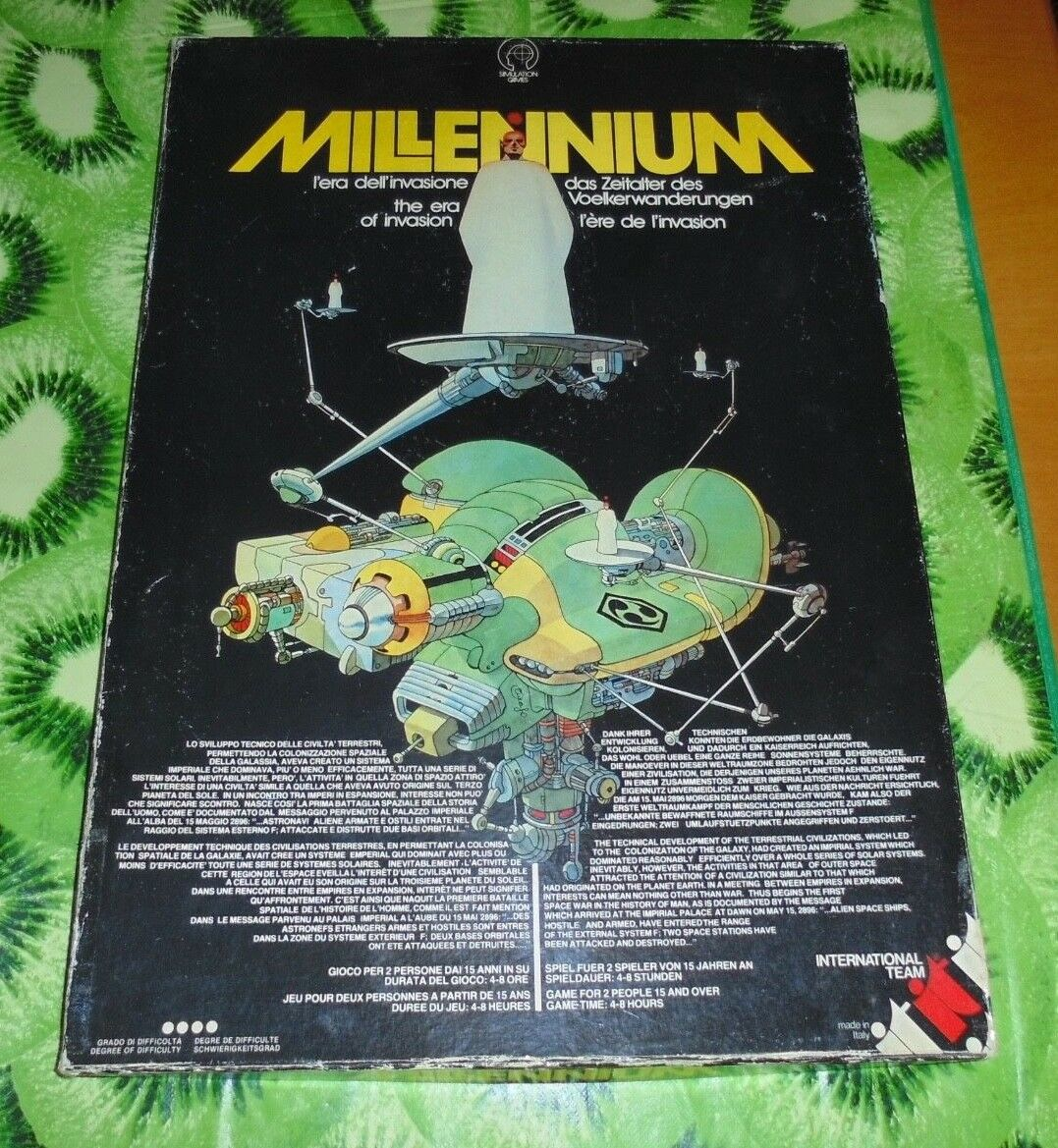 Millennium simulation games International games gioco tavolo simulazione vintage