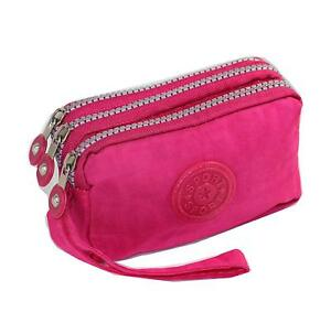 Phone-Wristlet-Bag-3-Zipped-Pouch-for-iPhone-Xs-X-8-7-SE-by-Tainada-Pink