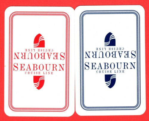2 Single VINTAGE playing//swap card SHIPS SHIPPING SEABOURN CRUISE LINE #70