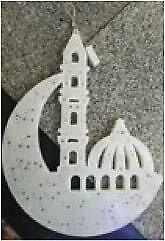 """Holiday Light Moon Masjid Mosque White LED Multi-Color Colorful EID Item 16"""""""