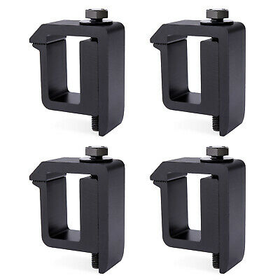 Black, 4 Pack Aluminum Alloy NW-1 Truck Topper Clamps Cap Camper Shell Mounting Clamps for Pickup Cover Canopy Ladder Rack