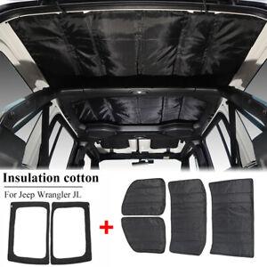6* Headliner Roof Heat Insulation Sound Cotton For Jeep Wrangler JL 2018+ Black