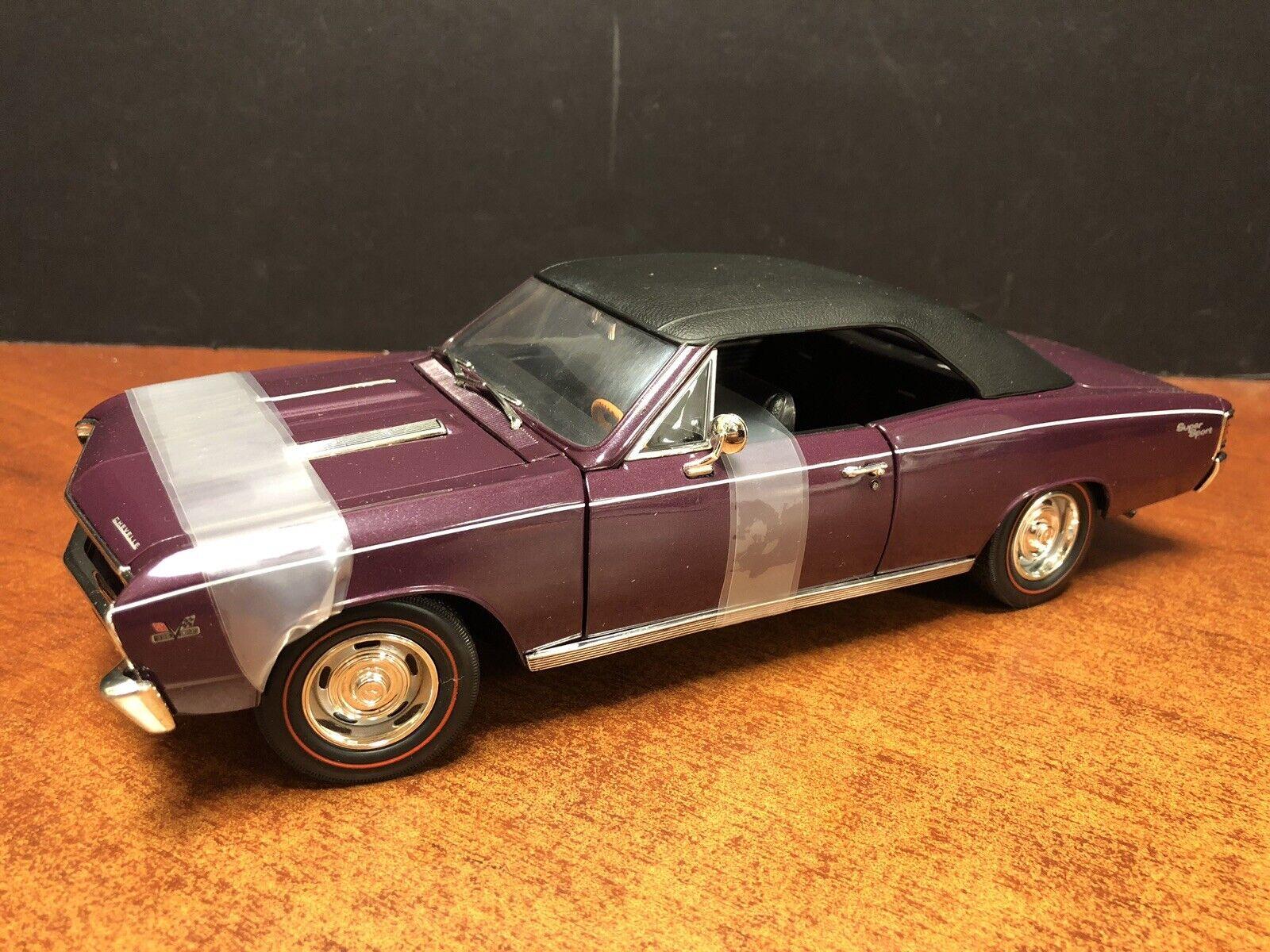 1 18 Ertl 1967 Chevrolet Chevelle SS viola EM3165