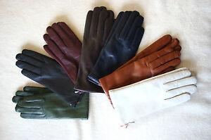 Edle-gefuetterte-Lederhandschuhe-Handschuhe-Damen-echtes-Leder-Pittards-Nappa