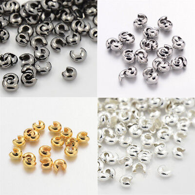Nickel Free 200 Iron Crimp Covers 4mm Colour: GOLD