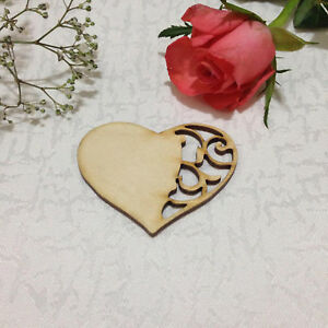 Blank Wooden Hearts Shapes Templates Tag Embellishments Natural Save The Date Ebay