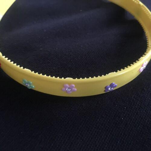 Flower hair alice band headband plastic 1.5cm hairband floral bands diamante