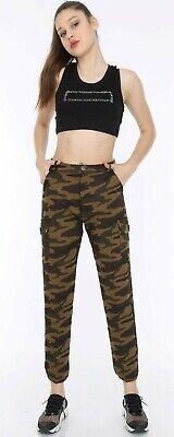 2019 Neuestes Design Womens Army Cargo Combat Bermuda Joggers Military Ladiescasual Trousers 8-16
