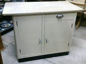Eccezionale mobiletto armadietto da cucina anni con piano in
