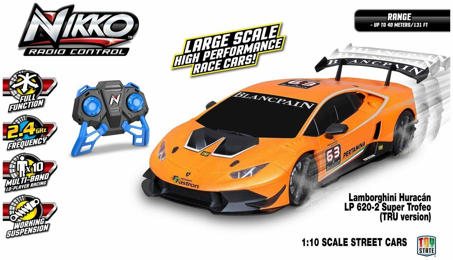 Radio Control Nikko Lamborghini Huracan 1 10 - orange