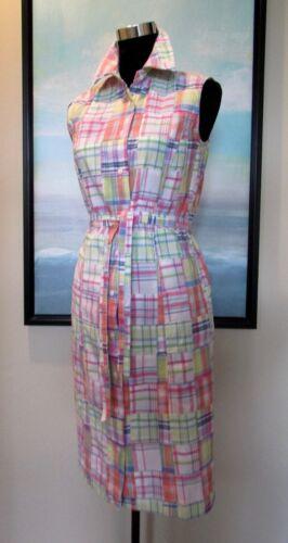 "Brooks Brothers ""346"" Cotton Madras Plaid Dress Sz"