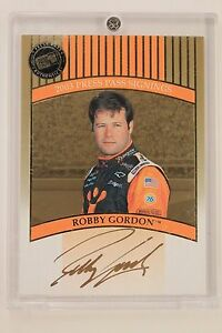 NASCAR-Driver-ROBBY-GORDON-Autographed-Signed-2003-Press-Pass-Card-w-Holder