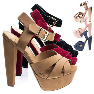 ca07fcce2af3 Image is loading Sedona-Towering-High-Platform-Block-Heel-Sandal-Women-