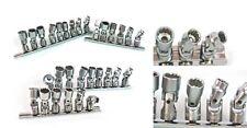 "15PC 1/4"" DR. Swivel Hand Socket Set, Universal Joint Sockets Metric & SAE"