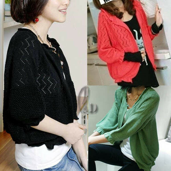 WHOLESALE BULK LOT 10 MIXED COLOUR Soft Open Cardigan Sweater Crop Coat Top T101